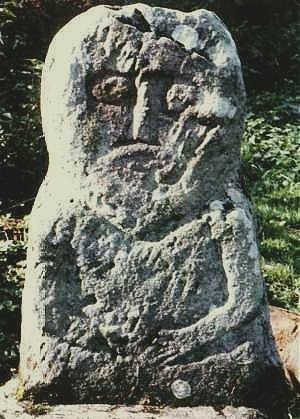 Figure from Lusty More Island, county Fermanagh.
