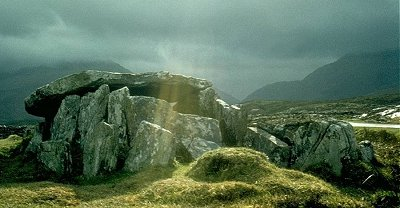 Wedge-tomb, Srahwee, county Mayo.