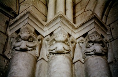 Transept capitals of the parish church of Lucheux (Somme)