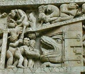 Detail of the Tympanum of the Monastery Church of Conques (Aveyron)
